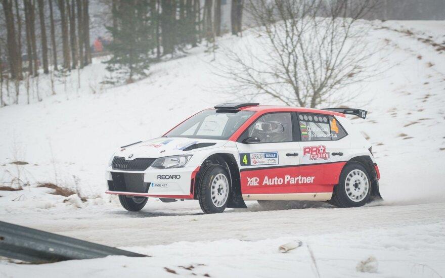 """""""Halls Winter Rally"""" neprilygstamas buvo D. Butvilas"""
