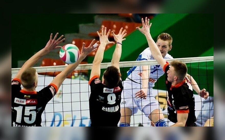 """Šiaulių """"Elga-Master Idea-SM Dubysa"""" ir """"Vilniaus kolegija-Flamingo Volley"""" mačo akimkirka"""