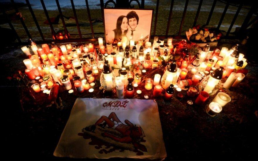 Slovakai Bratislavoje gedi nužudyto žurnalisto Jano Kuciako