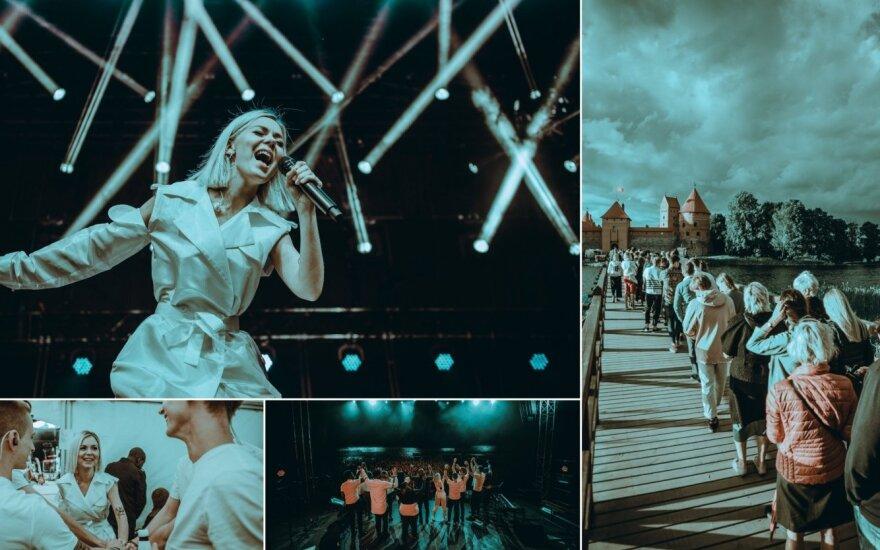 Monikos Linkytės koncerto Trakų pilyje akimirkos Foto/ Ignas Avižinis