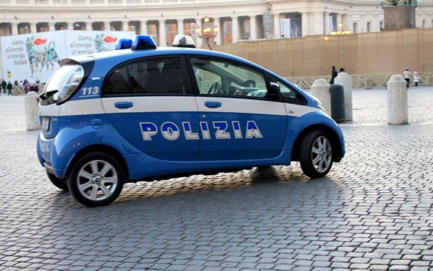 Policijos automobilis Italijoje