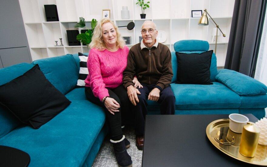 Kotedžo laimėtojai naujuose namuose