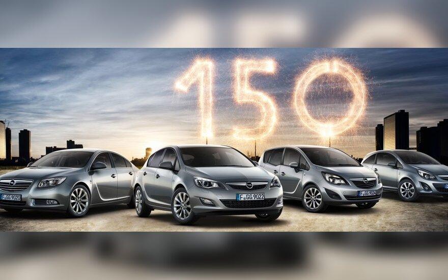 """Opel """"150 years Opel"""" modeliai"""
