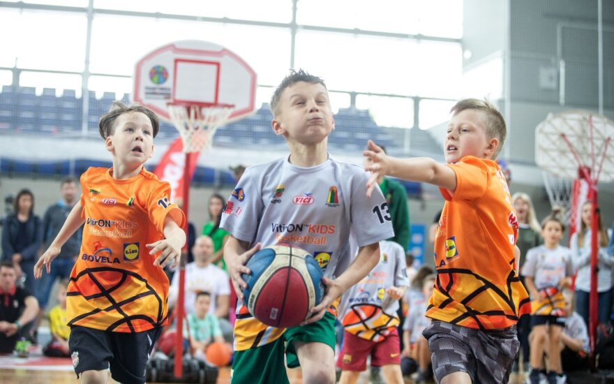 Lietuvos darželinukų krepšinio čempionate triumfavo Jasikevičiaus sūnaus ekipa / FOTO: Fotodiena/E.Kinaitis