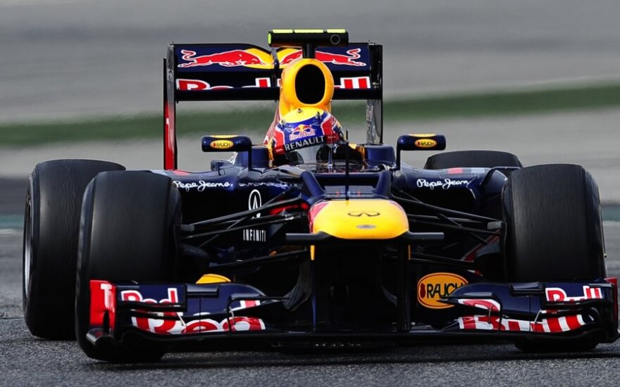 "Markas Webberis su ""Red Bull"" automobiliu"
