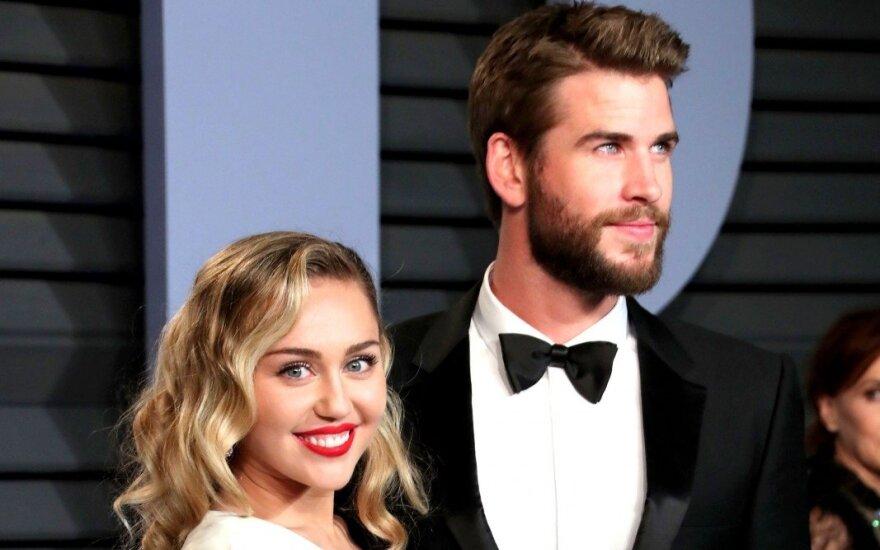 Miley Cyrus ir Liamas Hemsworthas