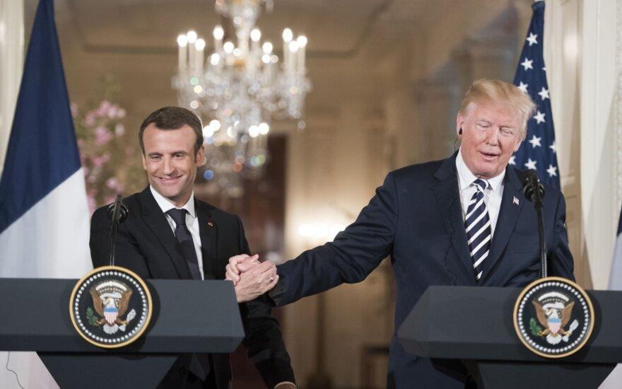 Donaldas Trumpas, Emanuelis Macronas