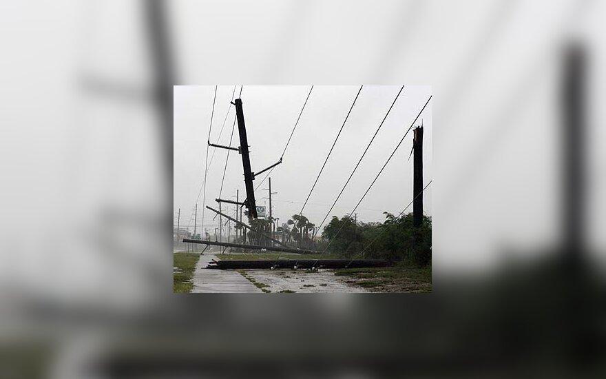Uraganas Dolly nusiaubė South Padre salą