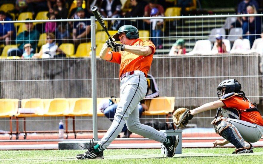 Europos jaunimo beisbolo čempionato starte – lietuvių nesėkmė