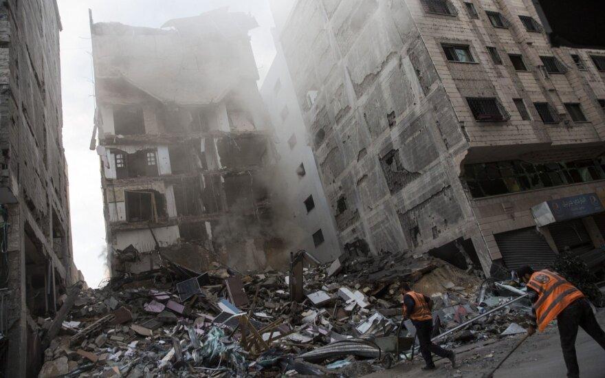Per ramesnį protestą Gazos Ruožo pasienyje sužeista 18 palestiniečių