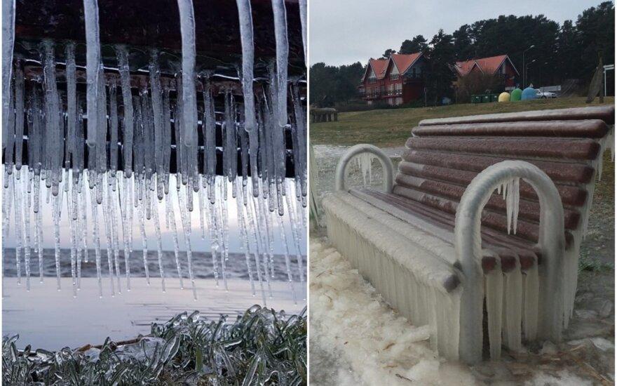 Gamtos sukurtos ledo skulptūros