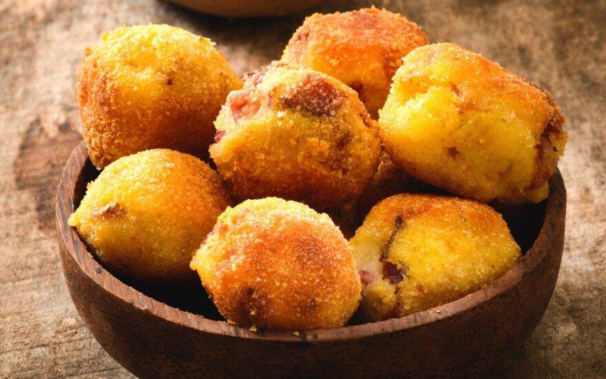 Ypatingi bulvių kroketai su sūriu ir mėsa