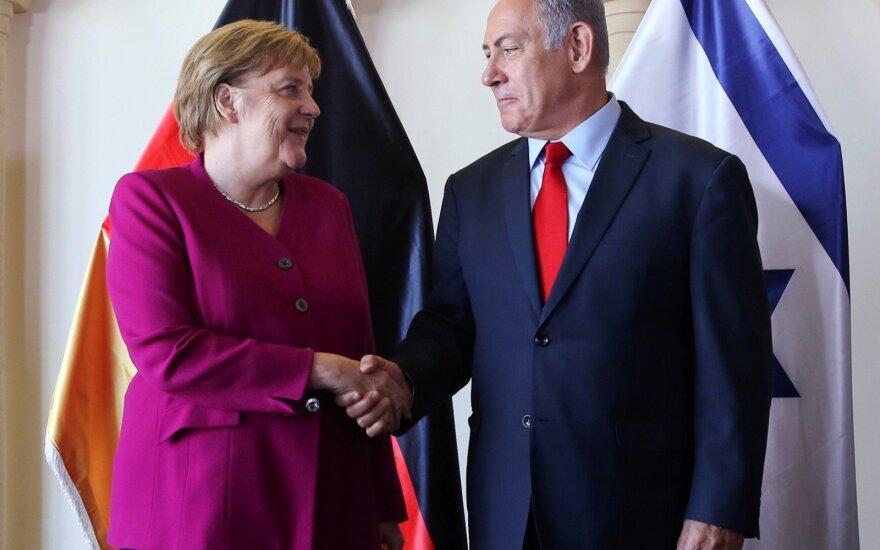 Angela Merkel ir Benjaminas Netanyahu