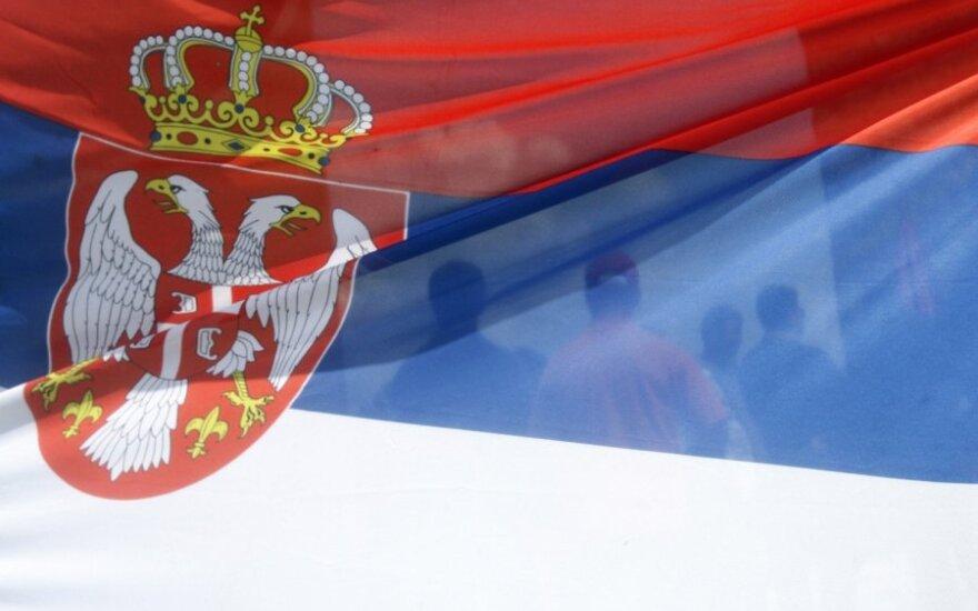 Serbijos vėliava