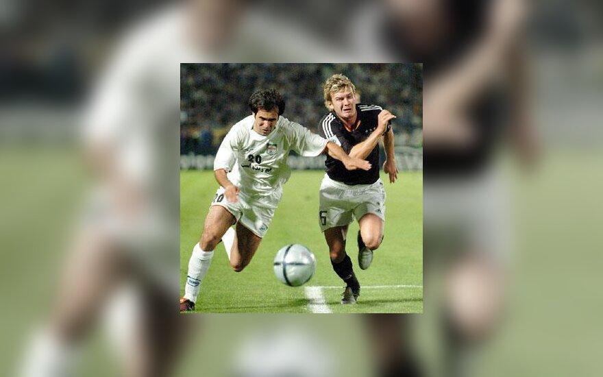 Vokietija - Iranas, futbolo varžybų akimirka