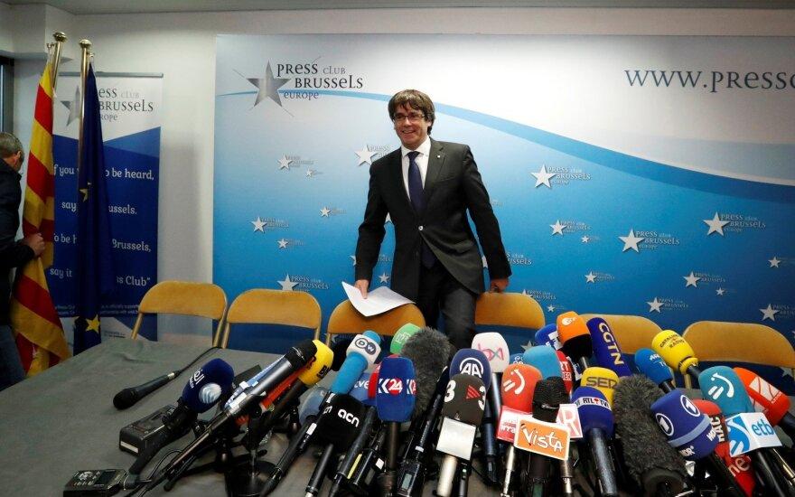 Carlesas Puigdemontas Briuselyje