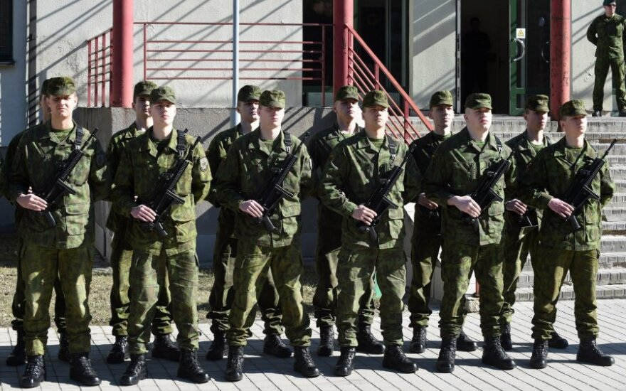 At the mandatory military service