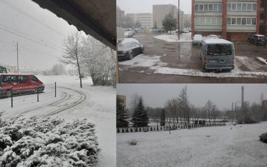 Pasidalinkite! Skaitytojai fiksuoja Lietuvoje vėl iškritusį sniegą