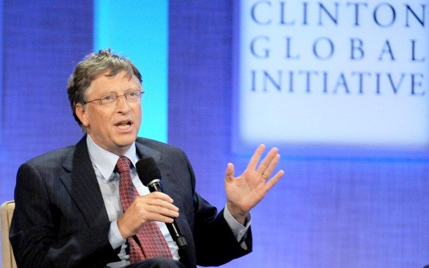"""""""Bloomberg"""": B. Gateso turtas pasiekė rekordinį lygį"""