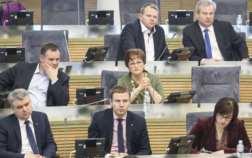 Lithuania's ruling parties usurped legislation, opposition complains