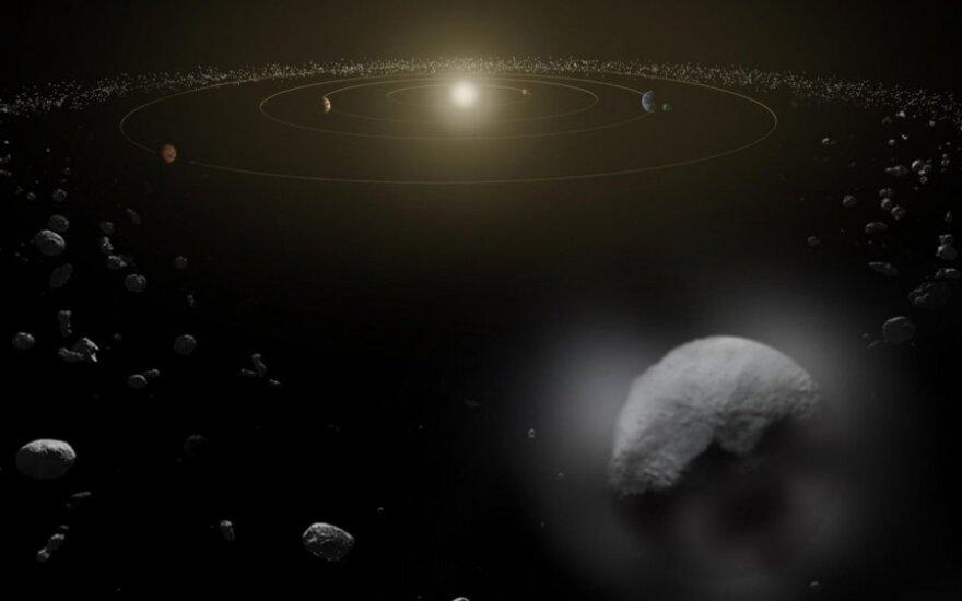 NASA iliustracija, pavaizduojanti Cererą