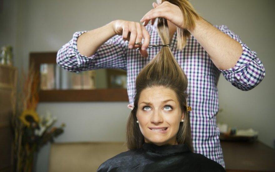 Grožio salonams gresia sankcijos dėl skirtingų kainų vyrams ir moterims