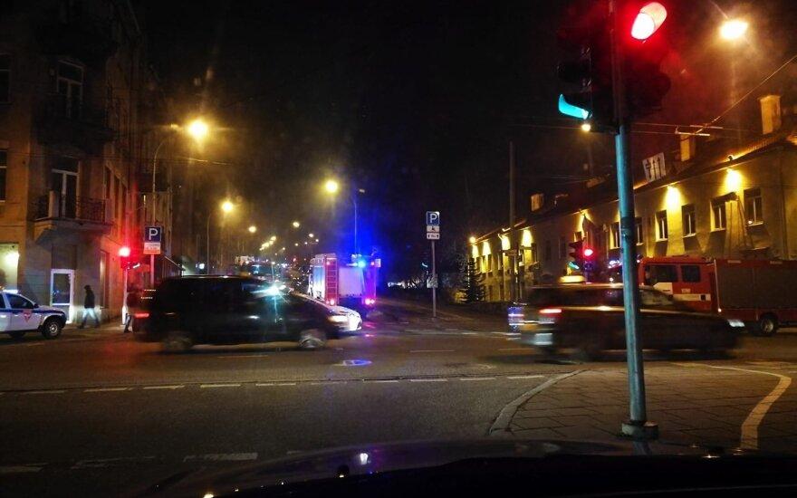 Per gaisrą name Vilniaus centre žuvo vyras