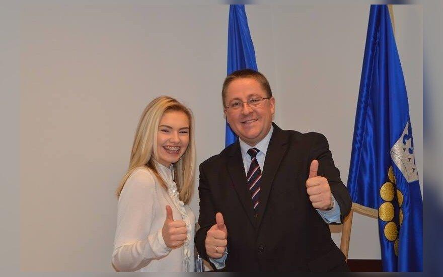 Paulina Skrabytė ir Palangos meras