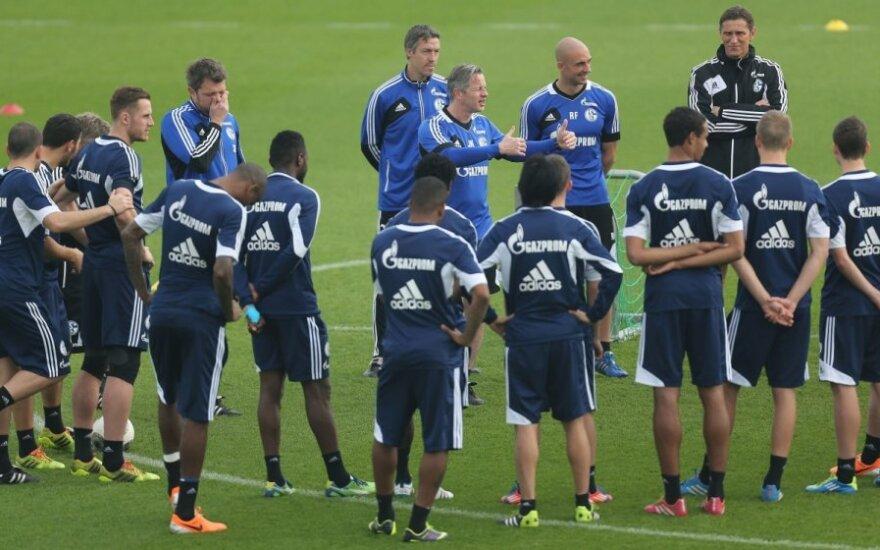"""""""Schalke 04"""" futbolininkai išreiškė paramą Michaeliui Schumacheriui"""