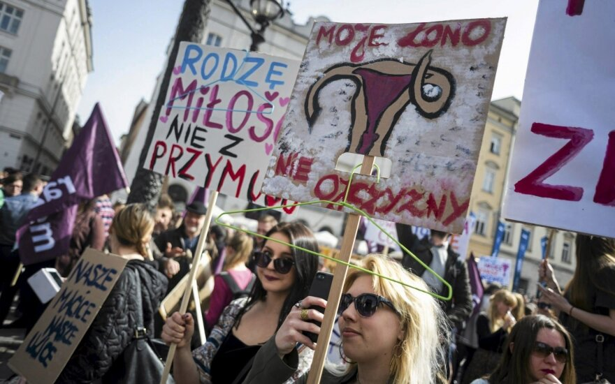 Pro-choice protests in Poland
