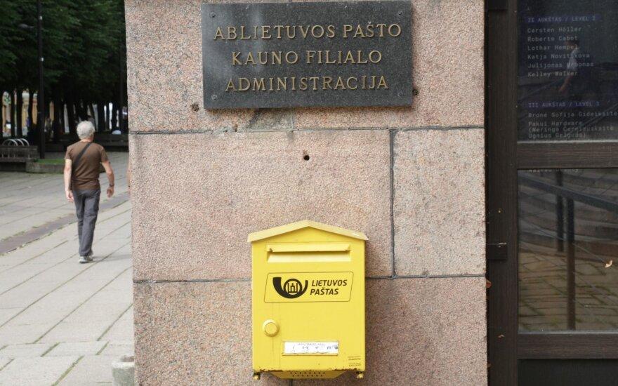 Lietuvos paštas padidino kai kurių paslaugų kainas