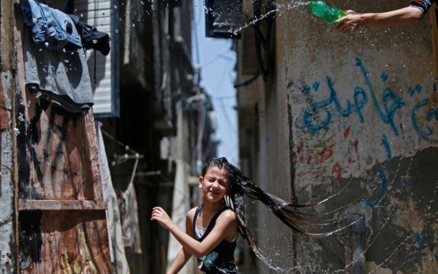 Karščio banga smogė Palestinai