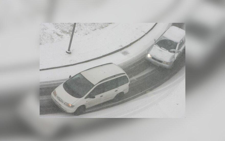 Šiaulių r. susidūrė trys automobiliai