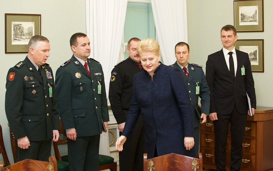President Dalia Grybauskaitė with leadership of public security institutions