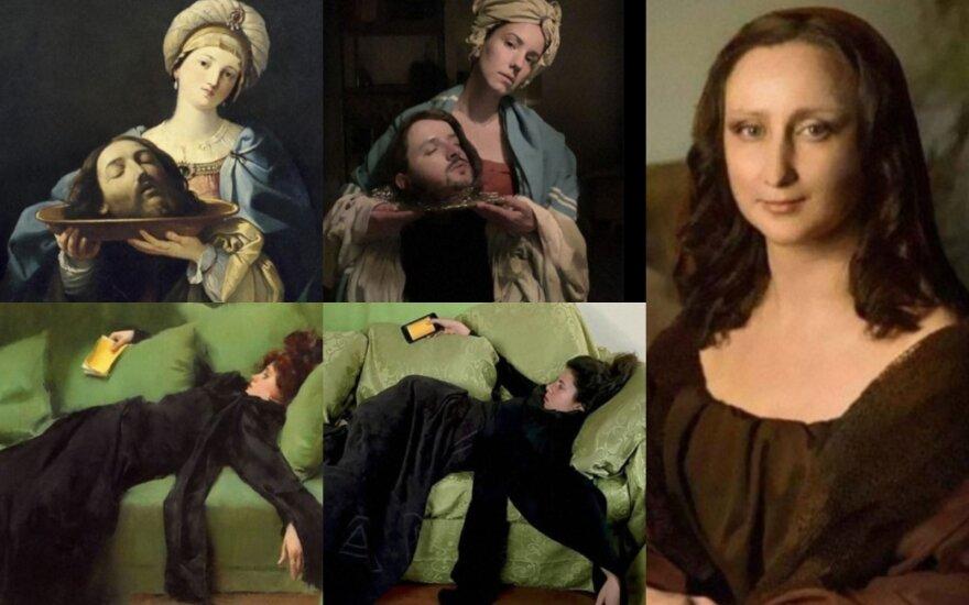 Muziejaus iššūkis privertė žmones atkurti garsius paveikslus/ Foto: quarantine2020isart nuotr.