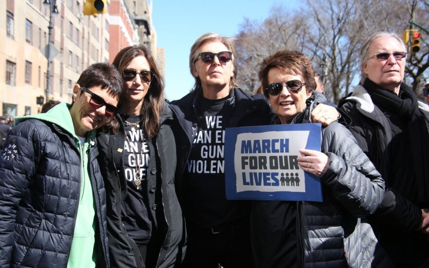 Paulas McCartney proteste