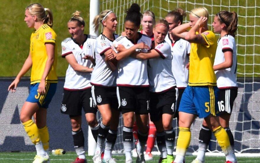 Vokietijos futbolininkės įveikė Švedijos rinktinę