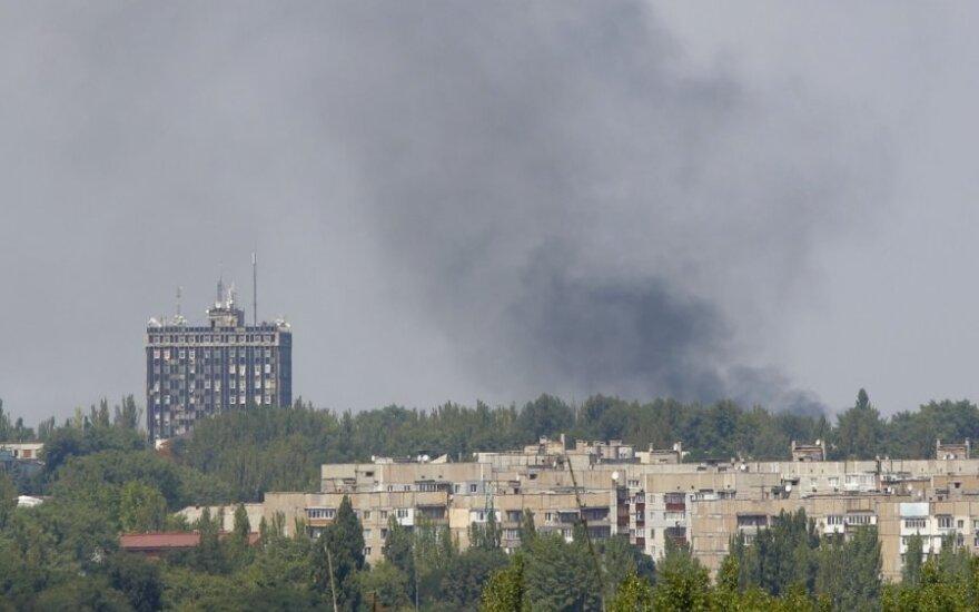 Doneckas: šūvių iš sunkiųjų ginklų papliūpas girdėjo visas miestas
