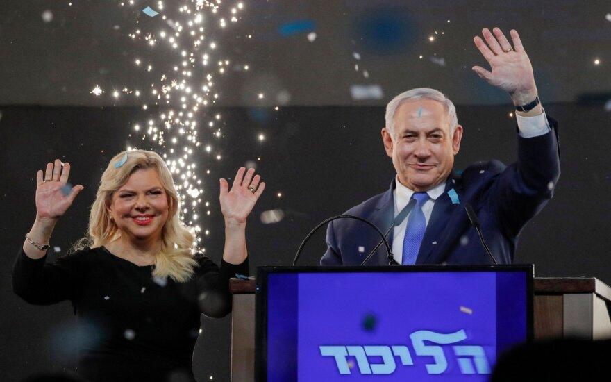 Izraelio premjeras B. Netanyahu po įtemptų rinkimų artėja prie pergalės