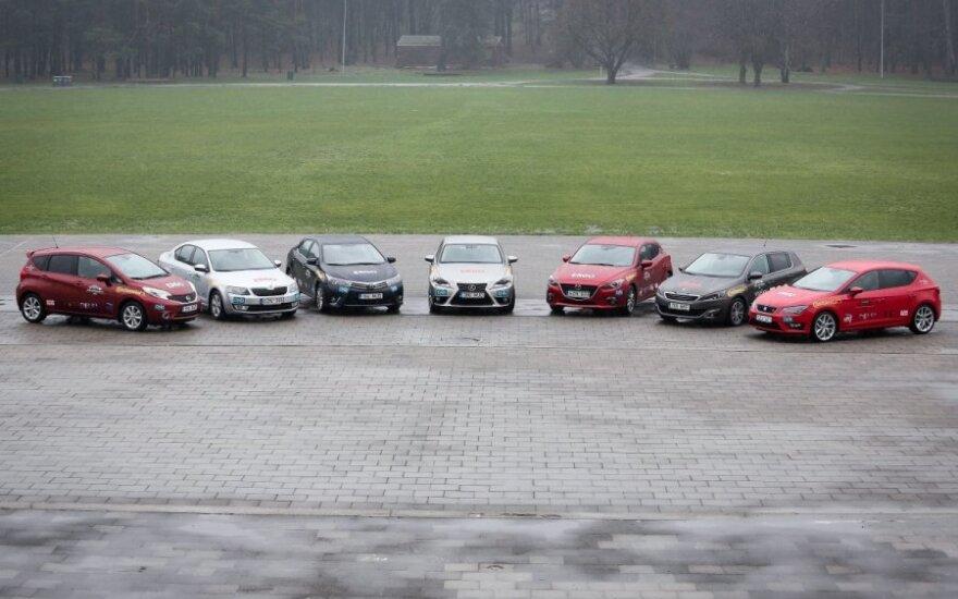 Metų automobilio 2014 finalininkų septynetukas