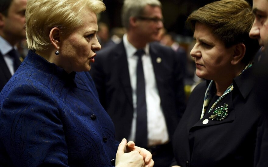 Lithuanian President Dalia Grybauskaitė, Polish Prime Minister Beata Szydlo