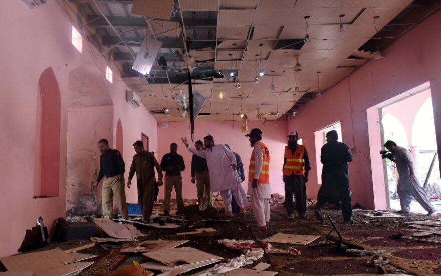 Pakistano pietvakariuose per sprogimą mečetėje žuvo žmogus, keliolika sužeisti