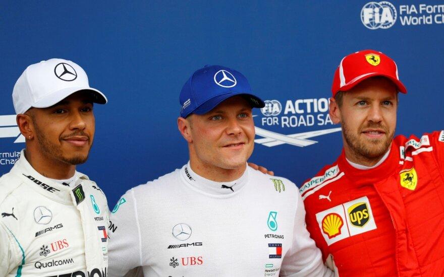 Lewisas Hamiltonas, Valtteri Bottas, Sebastianas Vettelis