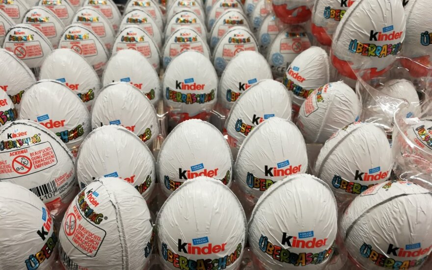 """""""Soapy"""" Kinder chocolate eggs recalled in Lithuania"""