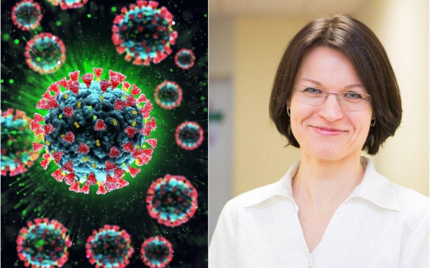 Gydytoja Jurga Dūdienė papasakojo, kaip elgtis, pajutus lengvus koronaviruso simtpomus
