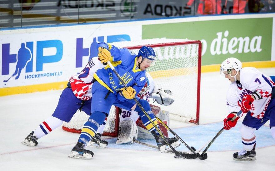Pasaulio ledo ritulio čempionatas: Ukraina - Kroatija