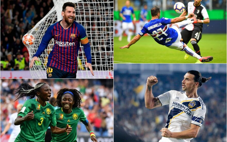 Lionelis Messi, Fabio Quagliarella, Ajara Nchout, Zlatanas Ibrahimovičius