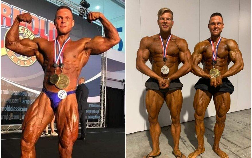 Tomas Kairys, Arminas Kurmauskas, Tomas Kairys / FOTO: IFBB.lt nuotr.