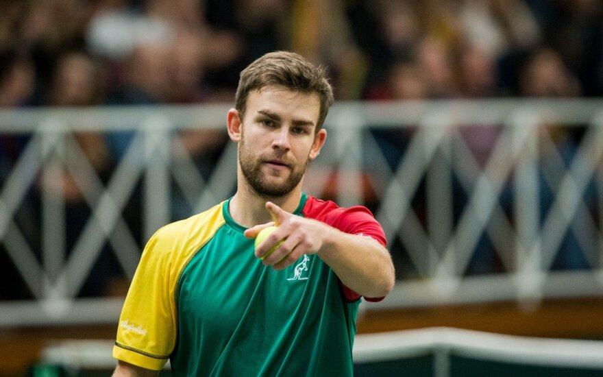 Turnyre JAV – Grigelio pergalė prieš gerokai aukščiau ATP reitinge esantį varžovą