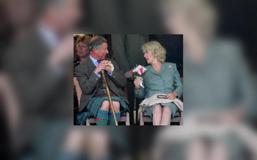Didžiosios Britanijos princas Charlesas ir Camilla Parker Bowles